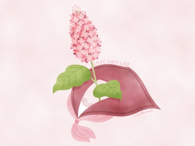 """The language of flowers """"lilac """" lilac illustration flower illustration flower"""