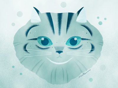 Cat eyes are the universe. cat illustration