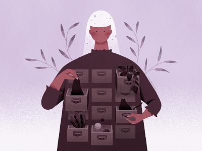 My drawers innerworld illustration