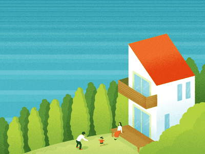 "Housebuilder""Tect no ie""brand guide house landscape illustration"