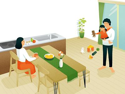 "Housebuilder""Tect no ie""brand guide room house illustration"