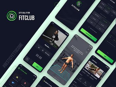 Fit Club - The Fitness App mobile creative design uiux visual design fitness app
