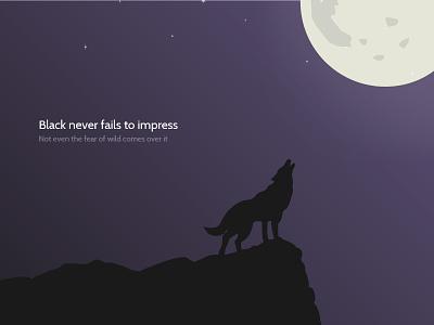 Wild Beauty illustration hilltop wallpaper vampire night howl. moon hound fox black beauty