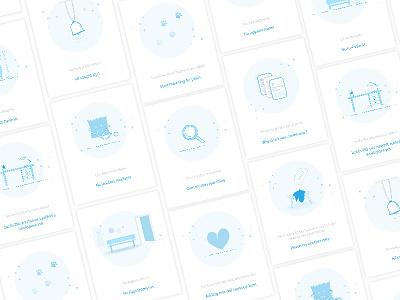 Illustrations for Medical App empty screen user interface user experience medical illustration ux ui