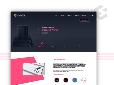 Evontex - Website Landing Page landing page color theory user experience software design website color ui ux