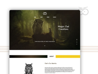 Magic Owl - Landing Page Design brand gradient new web creative studio landing page color theory user experience design website color ui ux
