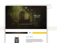 Magic Owl - Landing Page Design