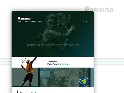 Ranaina - Portfolio Design creative new web landing page color theory user experience design website color ui ux