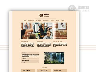 Hamsa - Spa & Saloon ux ui color new web website creative studio design user experience color theory landing page