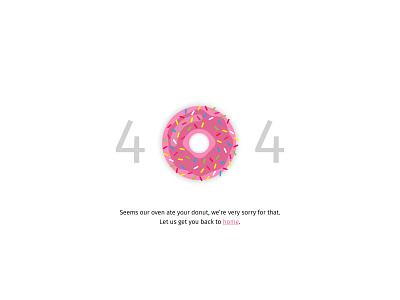 404 Concepts ui web creative ux design illustration donut 404