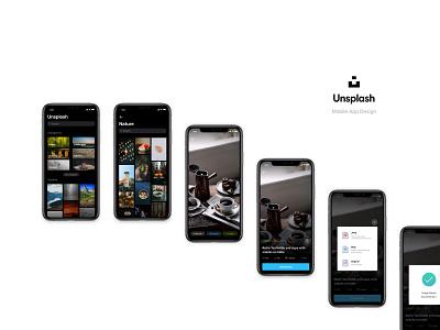 Unsplash Mobile App - Redesigned mobile branding app app design unsplash ux redesign creative user experience ui design