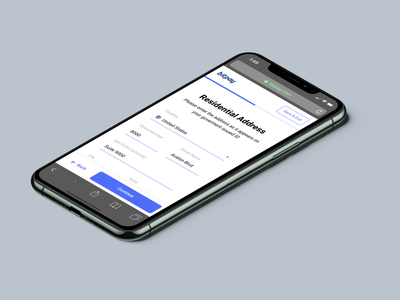 BitPay Personal Account Verification - Mobile ui ux product design payment branding crypto blockchain bitcoin account forms kyc verification onboarding