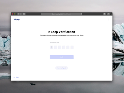 BitPay Personal Account Onboarding - Desktop ui ux payment crypto branding blockchain browser desktop account forms 2fa sign up login product design onboarding