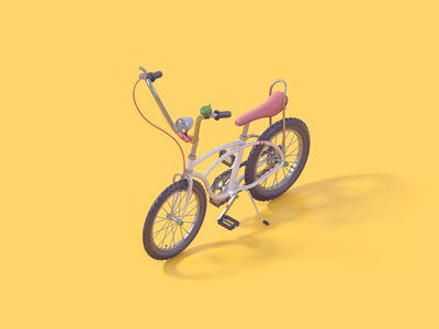 Bicycle toy sculpture modeling c4d bicycle 3d