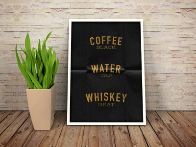 Coffe Water & Whiskey