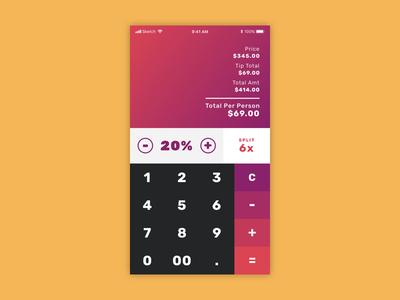Daily UI challenge #004 — Tip Calculator