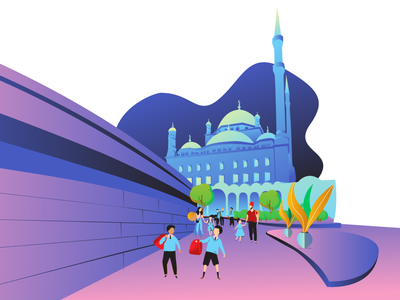 Mohamed Ali Mosque Illustration drawing art direction artwork architecture artist abstract designer design cartoon design vexelart illustration vectorart vexel vector art vector vexel art art ai