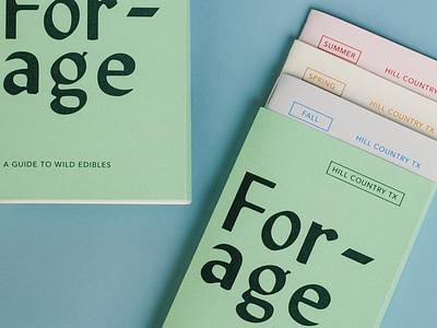 Forage typography book print design