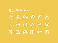 Icons - McDonalds McAttack Game