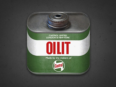 Castrol Oilit Icon can castrol icon oil texture logo ios environment green app
