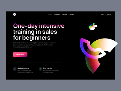 One-day intensive illustration colorful app website presentation application landing emelents project intensive startup png flying graphics web clean abstract ux ui design