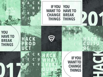 Lookout hackathon art gritty poster wheat paste hack hackathon