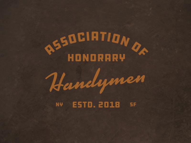 Association of Honorary Handymen typography script heritage workwear vintage swag prefer handymen