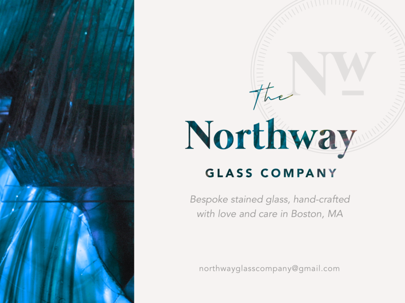 The Northway Glass Co. sticker label craft heritage boxing label sticker logo stained glass glass