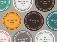 Vouched For soloist prefer endorse vouch badge stickers