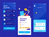 To do list ui dark to do list illustration ios design interface app