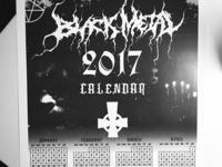 Black Metal 2017 Calendar