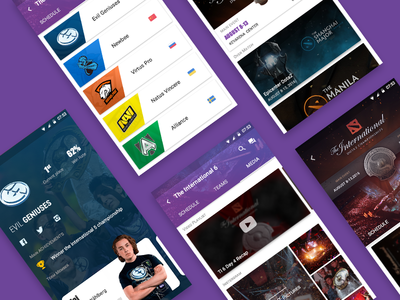 Dotaer App Screens Part1 md android dotaer kit dota2 game ux ui