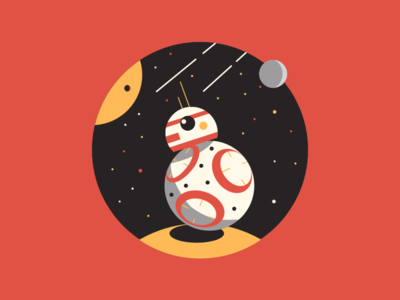 BB8 bao space planet illustration starwars icon