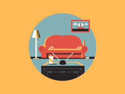 Get a TV Party! type tv movie illustration icon bao