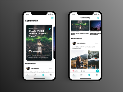 Nature Watch | Community community ui naturewatch nature mobile animal iphonex ios11 feed app