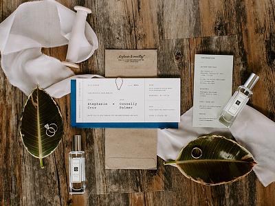 Invitation Set print wedding typography type invitations