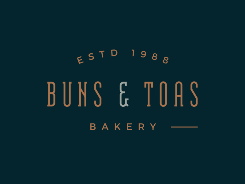 Buns & Toas Bakery logo concept visual identity premium premium design food logo bakery logo bakery logo type logo design bless creatics logo logos graphic design typography brand identity logo designer branding