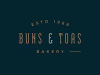 Buns & Toas Bakery logo concept