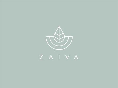 ZAIVA Cosmetic - Logo design minimal logo nature logo forest logo beauty logo beautybrand logo type bless creatics logo design logo logos brand identity logo designer branding