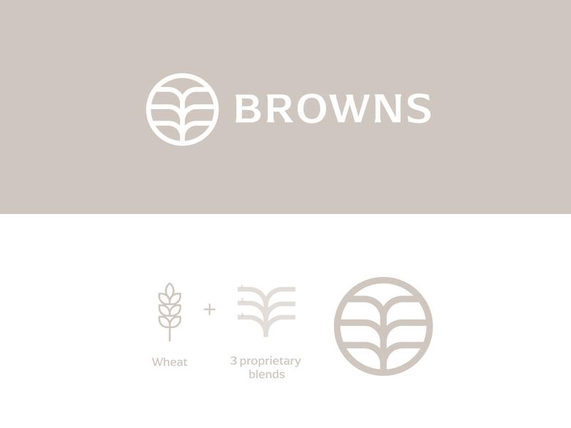 BROWNS logo mark wheat logo branding logo type brand identity logo design logo logos logo designer