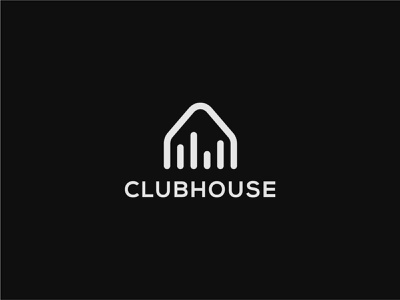 Clubhouse - Logo Concept typography clubhouse audio clubhouse graphic design logo type logo design logos logo brand identity branding logo designer
