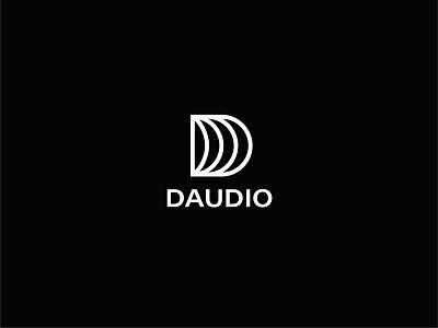 Daudio Logo audio music logo mark logo type graphic design logo design logos logo brand identity logo designer branding