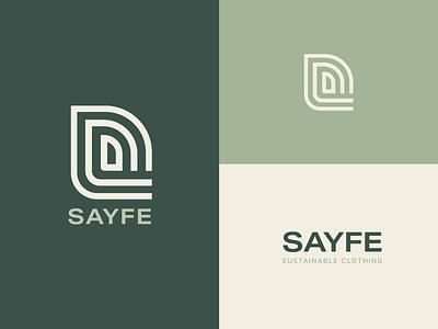 SAYFE - Sustainable Clothing minimal logo visual identity fashion branding fashion logo ui illustration design graphic design logo design logo logos brand identity logo designer branding