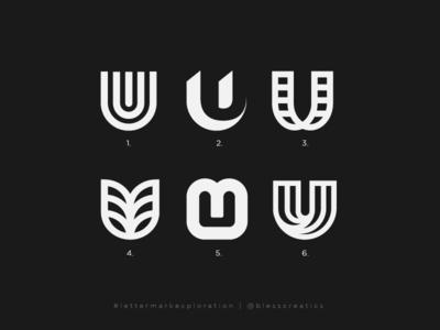 #lettermarkexploration - U - 21/26 clothing web brand design branding vector letter mark exploration mark letter mark lettermarkexploration logo type bless creatics logo design typography icon logo graphic design logo designer brand identity logos