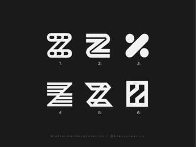 #lettermarkexploration - Z - 26/26 branding letter mark exploration brand letter mark lettermarkexploration bless creatics logo type illustration mark logo design design typography icon graphic design logo logos brand identity logo designer
