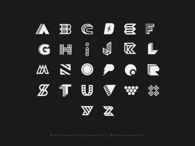 #lettermarkexploraton - FULL SET 1/3 letter mark exploration mark icon letter mark logo type bless creatics lettermarkexploration logo design design typography logo graphic design logos brand identity logo designer branding