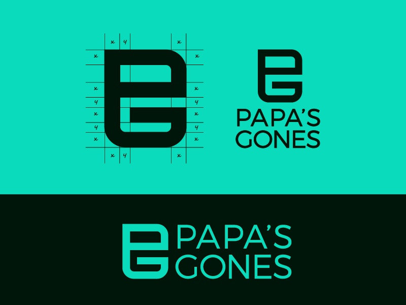 Papa's Gones Logo app ui brand branding and identity branding agency graphic design icon logo type bless creatics logo design typography logo logos brand identity logo designer branding