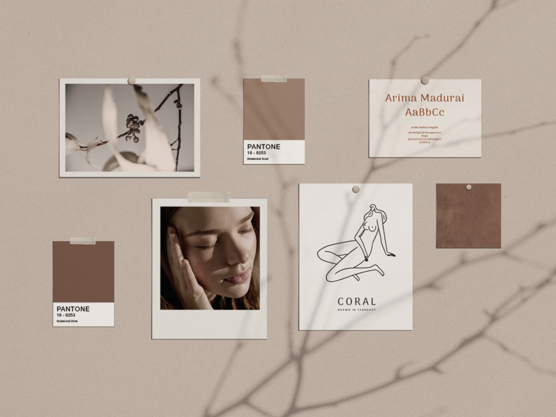 Wall Art Mood Board psd colors identity fashion elegant face download collage coffee clean branding design brand brand identity design 3d branding mockup