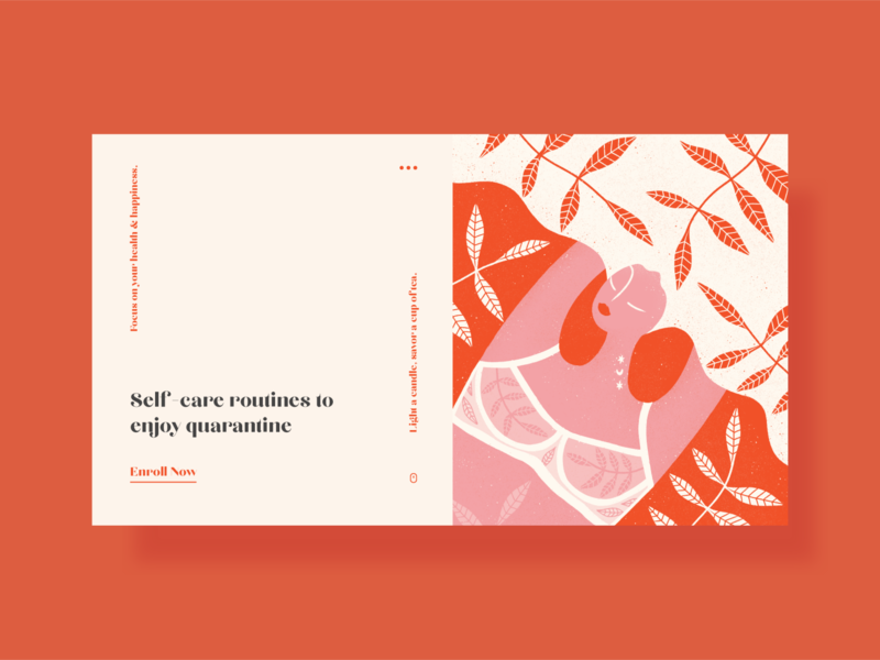 Self care routine quarantine print design poster a day poster art floral background floral figure woman girl conceptual composition poster design print poster