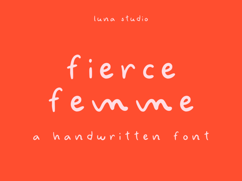 Fierce Femme Handwritten Font display font branding font handwritten font handwriting font handwritten typeface type typographic typo typography